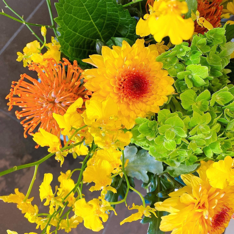 今週のお花・紫陽花ピンクッションデコラマムスプレーバラご来店の際はぜひ見てみてください・#岐阜市美容室 #oggiavanti #お花のある暮らし #フラワー #紫陽花 #デコラマム #ピンクッション #スプレーバラ #